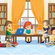 Royalty-Free Stock Vector Image: Children in library