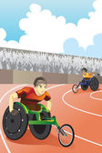 Wheelchair race — Stock Vector