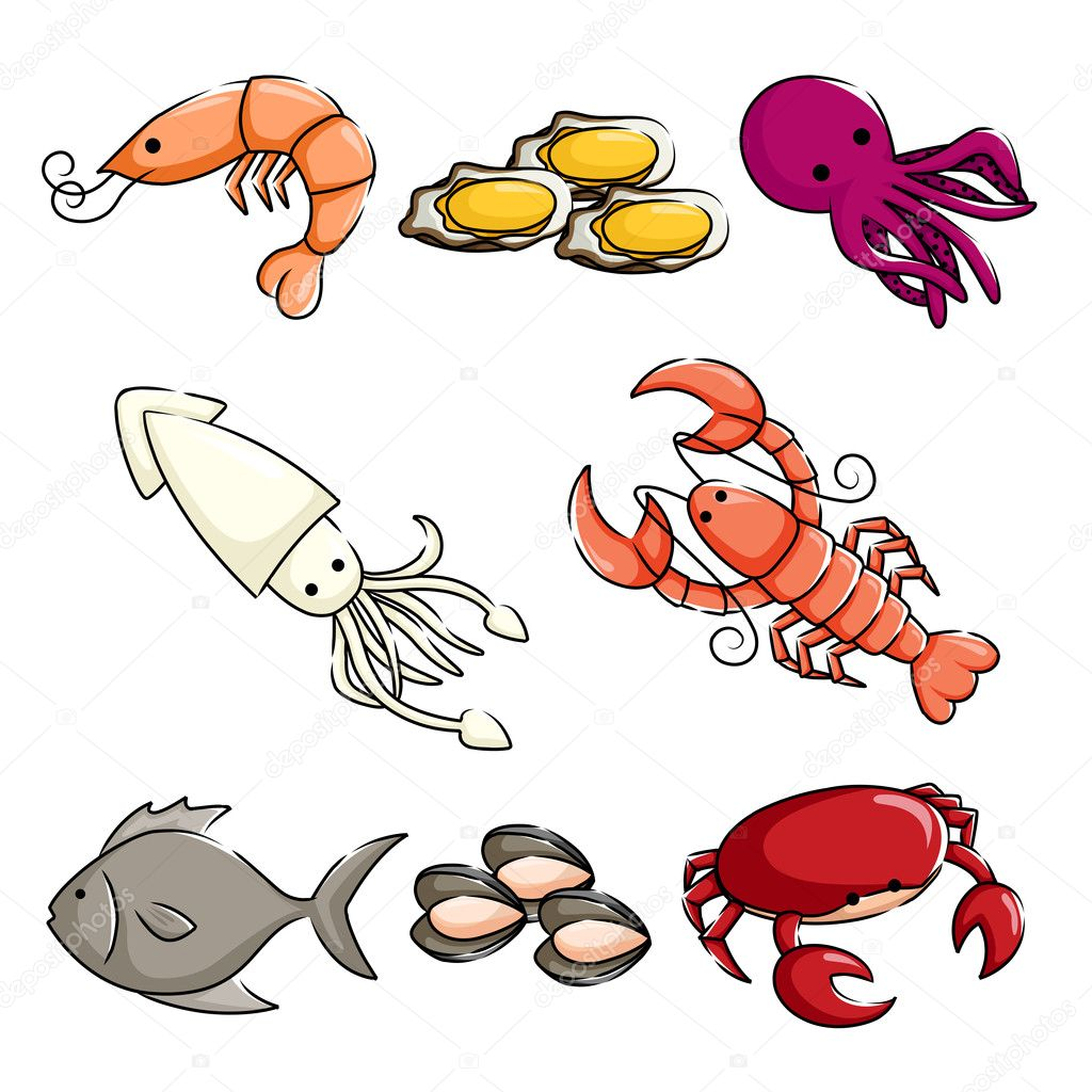 Sea animals icons — Stock Vector © artisticco #9714413