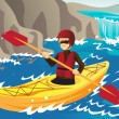 Kayaking — Stock Vector #9857289