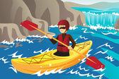 Kayaking — Vetorial Stock