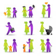 Life events icons — Stock Vector #9941016