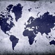 Grunge Globe - Stockfoto
