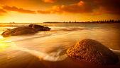 Sun Tinted Beach — Stock Photo