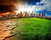 Globale katastrophe — Stockfoto