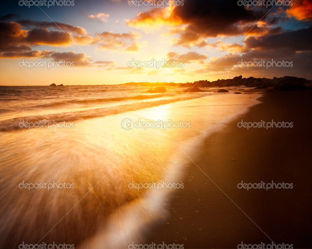 Beautiful Sunrise over an Australian Beach  Stock Photo #7979434