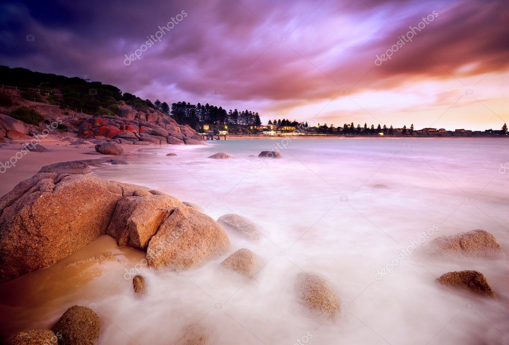 Beautiful Australian Beach Sunrise — Stock Photo #8962325