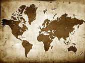Grunge Globe Sepia — Stock Photo