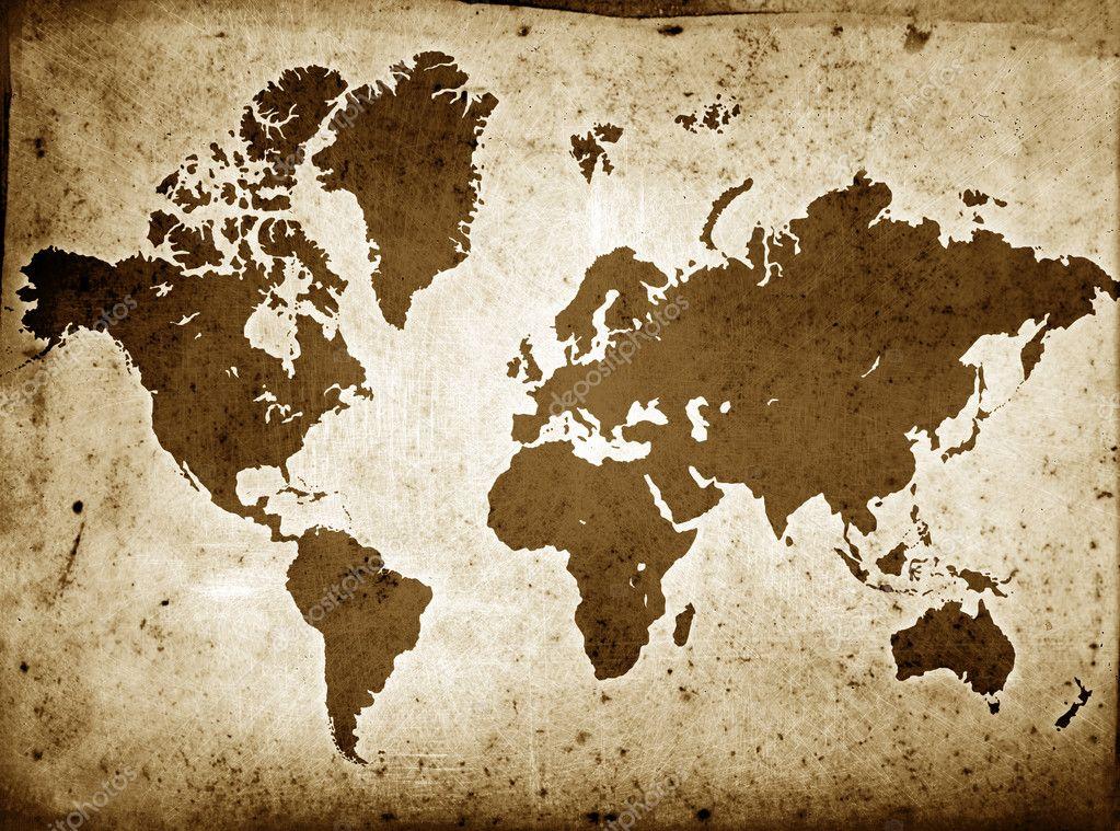 sepia world maps