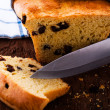 Fresh raisin bread as a studio shot — Stock Photo