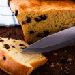 Stock Photo: Fresh raisin bread as a studio shot