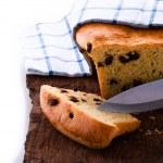 Fresh raisin bread as a studio shot — Stock Photo #9807395