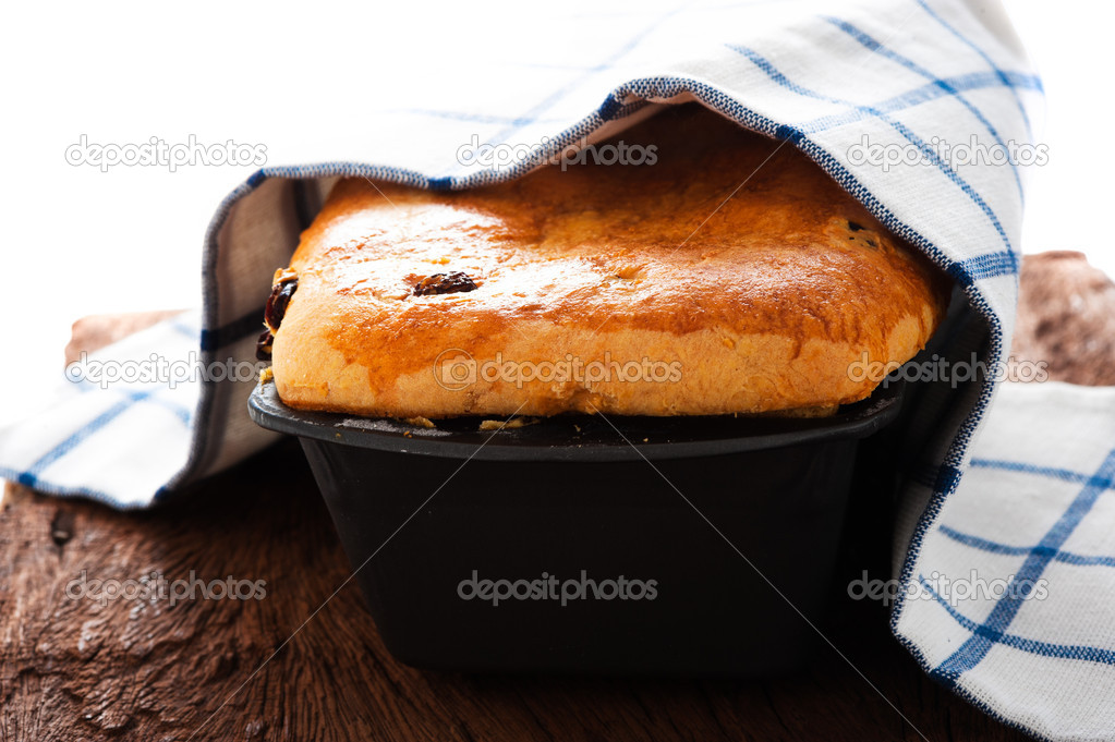 Fresh raisin bread as a studio shot — Stock Photo #9807264