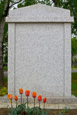 Blank gravestone, ready for an inscription — Stock Photo