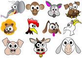 Cute cartoon animals — Stock Vector