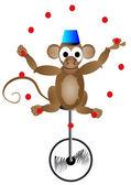 Mono de circo — Vector de stock