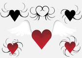 Heart in vector format very easy to edit — Stock Vector