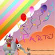 Circus Elephant Birthday Party Invitation Card — Stock Vector #8768773