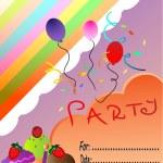 Happy birthday party invitation — Stock Vector #8768789