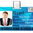 Stock Vector: Id card