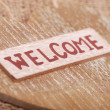 "Word ""welcome"" — Stock Photo"