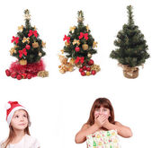 Big decoration collection on New Year holiday — Stock Photo