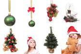 Big decoration collection on Christmas and New Year theme — Stock Photo