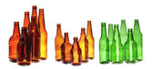 Collage of beer bottles — Stock Photo