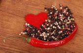 Röd chili peppar — Stockfoto