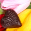 Rose with symbol heart — Stock Photo