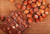 Hazelnuts chocolate — Stock Photo