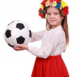 Royalty-Free Stock Photo: Ukrainian girl with a soccer ball
