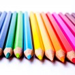 Colored pencils on a light background — Stock Photo