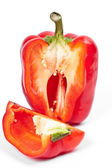 Fresh red peppers in the context of — Stock Photo