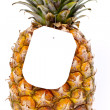 Ripe pineapple with a price tag — Stock Photo #10348327