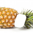Ripe pineapple with a price tag — Stock Photo
