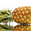 Ripe pineapple with reflection — Stock Photo #10348386