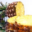 Sliced ​​pineapple — Stock Photo