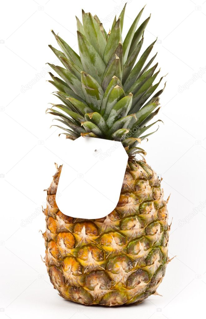 Ripe pineapple on a white background — Stock Photo #10348330