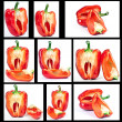 Red pepper in context of — Stock Photo #10537902