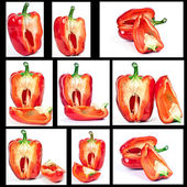 Red pepper in the context of — Stock Photo