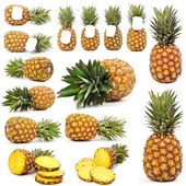 Pineapple from all sides — Stock Photo