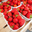 Stock Photo: Farmers market series - fresh strawberries