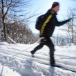Cross-country skiing: man cross-country skiing — Stock Photo #10408319