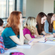 Students in class (color toned image) — Stock Photo #10408440