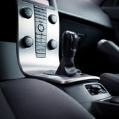 интерьер современный автомобиль — Стоковое фото