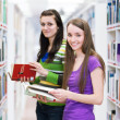 Royalty-Free Stock Photo: Pretty, young college student in a library