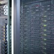 Server rack cluster in a data center - Stock Photo