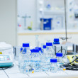 In a chemistry laboratory — Stock Photo