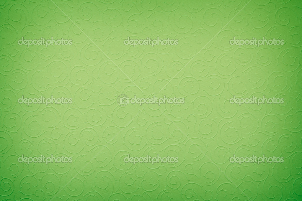Vivid green background with round organic ornaments — Photo #8520943
